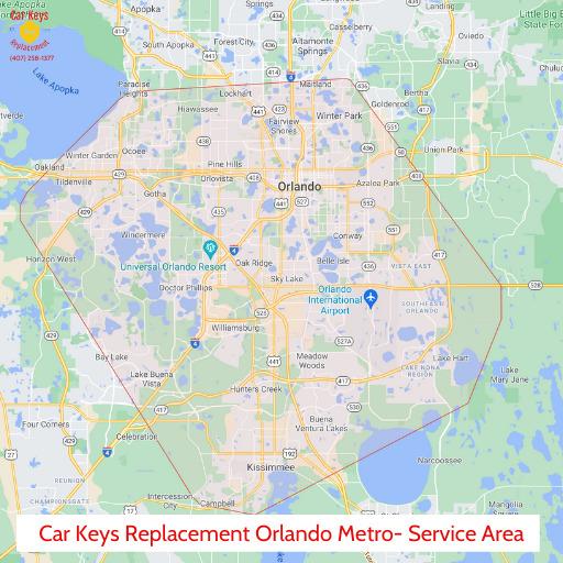 Orlando Metro Service Area- Car Keys Replacement Orlando Metro (407) 933-1433