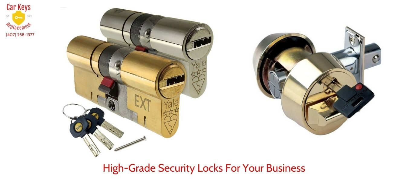High Grade Security Locks For Your Business- Car Keys Replacement (407) 258-1377